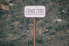 Let's Get This Party Started! (pmkelly) Tags: 31daysofhalloween cemetery ghosttown halloween mogollon newmexico sign