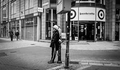 Standing on the corner . (wayman2011) Tags: lightroom5 colinhart fujifilmxt10 wayman2011 bw mono city street people candid urban yorkshire york uk