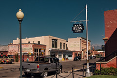 Downtown Salida (Orson Wagon) Tags: colorado elks fraternal sign neon ghost old small town city