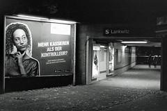 S Bahnhof  Lankwitz Test Kodak T-Max 3200 ADOX FX39 II (rieblinga) Tags: berlin sbahnhof lankwitz nachtaufnahme analog test kodak tmax 3200 m6 adox fx39 ii 3102018
