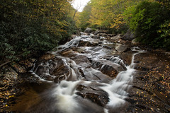 Flowing Into Fall (riqwammy) Tags: nature natural creek water stream flow trees woods forest trail hike hiking rocks color landscape waterscape wilsoncreek wilsoncreektrail graysonhighlandsstatepark virginia mouthofwilson graysoncounty nikon d750 longexposure