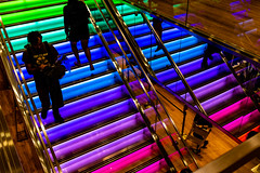 Colorful Stairs (pa_cosgrove) Tags: colors lines angles silhouettes steps interiors neon boston sony a73