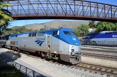 AMTK 132 - San Luis Obispo CA - 10/07/18 (RockAndRail) Tags: sanluisobispoca sanluisobispocalifornia sanluisobispo california amtraktrain11 amtk11 amtk amtrak coaststarlight station passengerstation passengertrain train passenger centralcoast starlight p42dc amtk132 f59phi emd ge amtk462 locomotive diesel railway railroad generalelectric generalmotorselectromotivedivision electromotivedivision amtk763 amtk796 pedestrianbridge