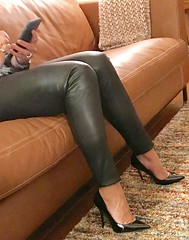 MyLeggyLady (MyLeggyLady) Tags: thighs sex hotwife milf sexy secretary teasing toe feet cleavage stiletto cfm leather pumps legs heels