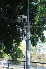 CCTV cameras, Shorncliffe Station (philip.mallis) Tags: brisbane shorncliffe shornclifferailwaystation trainstation railwaystation cctv security