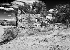 No Longer (daveanderson14) Tags: approved bw blackandwhite blackwhite abandoned adobe abiquiunm sky clouds