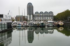 South Dock Marina (London Less Travelled) Tags: uk unitedkingdom britain england london urban city suburban suburbia water dock reflection boats boat rotherhithe southwark sub