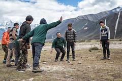 Men playing dego (Traditional Bhutanese game) in Chozo - Lunana Gewog - Gasa District - Snowman Trek - Bhutan (PascalBo) Tags: nikon d500 asie asia southasia asiedusud drukyul drukgyalkhap bhutan bhoutan འབྲུག་ཡུལ། འབྲུག་རྒྱལ་ཁབ་ snowman trek trekking hike hiking lunana gasa himalaya himalayas jigmedorjinationalpark dego game jeu man homme outdoor outdoors pascalboegli