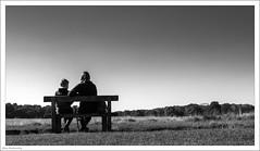 Enjoying A Moment 292/365 (John Penberthy ARPS) Tags: mother d750 parent bench people mono richmondpark johnpenberthy 3652018 365the2018edition child monochrome 19oct18 son park blackandwhite day292365 nikon