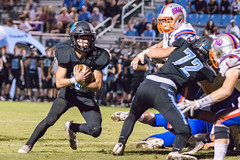 "PVHS v. Bolles '18-300 (mark.calvin33) Tags: football field sport ball ""high school"" ""ponte vedra high pvhs block tackle rush run pass catch receiver blocker ""running back"" quarterback fumble completion reception hike pitch snap ""friday night lights"" fans stands kick ""end zone"" ""nikon d7100"" 2018 win athletics athletes ""night photography"" ""sharks football"""