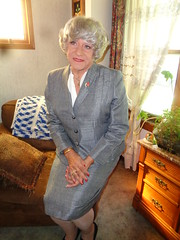 I Thought It Was Time That I Looked More Professional (Laurette Victoria) Tags: gray suit lady woman laurette
