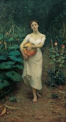 Fausto_Zonaro_-_Kabak_Taşıyan_Genç_Kız_,_Young_Girl_Carrying_a_Pumpkin_-_Google_Art_Project (skaradogan) Tags: fausto zonaro