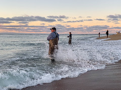 Fishing the Falling Tide (part 2 - looking right) (John Piekos) Tags: paradise surfcasting surfcasters ocean chappaquiddick marthasvineyard iphonexs mvderby surf beach vacation iphone marthasvineyardstripedbassandbluefishderby fishing