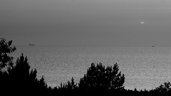 another view (Darek Drapala) Tags: view sea seashore seascape bw blackwhite blackandwhite nature natural sun sky silhouette sunset skyskape panasonic poland polska panasonicg5 lumix light