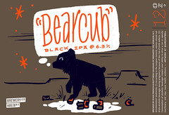 BEAR CUB by Jordan Bell for Brewery 129 (Label_Craft) Tags: beer beers craftbeer brew suds ale labels craft labelcraft beerlabel design illustration type fonts burp beerme brewery brewery129 inkwell hoeflerandco typographydotcom bearcub blackipa ipa harlem nyc ny manhattan