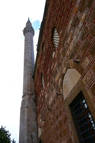The minaret of Mustafa Pasha mosque, Skopje