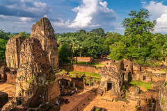 Eastern Mebon Temple (Wolfhowl) Tags: jungle landscape asia old oldtown easternmebon 2018 bricks ancient stones clouds rainforest trees summer historic complex ruins travel forest siemreap august sky hinduism cambodia angkor temple architecture