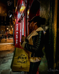 20180925-IMG_3610 Your place or mine? (susi luard 2012) Tags: nandos street bag church female girl greenwich jacket london people se10 uk