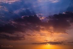 First Sign of Autumn... (BlueLunarRose) Tags: sunrise sun sunlight morning sky skyscape clouds rays beams blue autumn sonyalphadslra200 sal1855 bluelunarrose