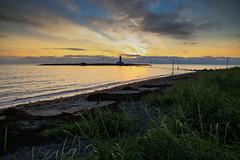 Grótta lighthouse (Pétur Jónsson) Tags: grótta reykjavík iceland seltjarnarnes pétur jónsson k55 grass lighthouse atlantic ocean sunset