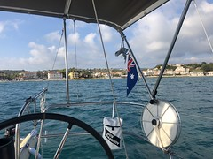 We Are Sailing (RobW_) Tags: setting off tsilivi beach yacht esprit zakynthos greece tuesday 09oct2018 october 2018