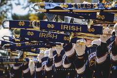 Irish Trombones (riggsy23) Tags: university notre dame marching band south bend indiana trombones
