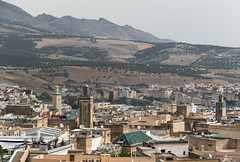 Fez, Morocco (Adrià Páez) Tags: fez morocco maroc marocco fes fasmeknas maghreb north africa city cityscape vegetation medina architecture minaret mosque canon eos 7d mark ii mountains