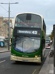 "Lothian 931 for ""The Ferry"" on Princes Street, Edinburgh. (calderwoodroy) Tags: eclipsegemini2 wrightbus b9tl volvo sn09cvs 931 service43 edinburghtransport transportforedinburgh lothiancountry lothianbuses doubledecker bus princesstreet edinburgh scotland"