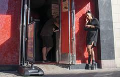 DSC_9441b Shoreditch High Street London Rainbow Sports Bar Exotic Dancer Venue Gentleman's Bar Lady on the Phone Smoking (photographer695) Tags: shoreditch london high street rainbow sports bar exotic dancer venue gentlemans lady phone smoking