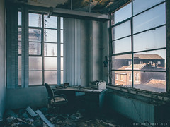 An Office With A View (Martin Beaumont) Tags: abandonedyorkshire abandoned derelict decay urbandecay urbex belgium office block grimelords urbexwarriors lostplaces forgottenindustry