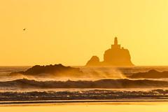 Tillamook Rock (Oleg S .) Tags: rock usa oregon sunset nature water oregoncoast flickr sea