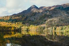 Ben A'an, Loch Achray and Autumn Colours (Bev & Paul Mynott) Tags: benaan lochachray trossachs autumn autumncolours lochs reflections reflection