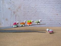 134-turtles 10mm (2) (tinyteensdolls) Tags: amigurumi crochet crochetmini craft crochettoy crochetminiature crochetturtle turtle miniature mini microcrochet micro minicrochet miniamigurumi toy tinyamigurumi tiny threadcrochet small handmade