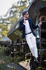 Men fashion (Fernando.P.Photo) Tags: portrait mode exterieur train railways fashion men homme fernando pereira fpstudio67