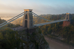 If I Was A Bridge, I'd Be This Bridge. (Paul C Stokes) Tags: clifton suspension bridge bristol england uk southwest west country brunel morning early light golden mist misty glow sony a7r2 a7rii zeiss 1635 1635mm