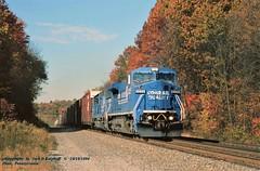 CR 6258, Penn, PA. 10-18-1994 (jackdk) Tags: train railroad railway locomotive ge gelocomotive manorpa pennpa conrail cr pittsburghmainline fall fallcolor freighttrain freight c408 c408w gec40 gec408