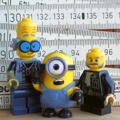 't wasn't me, Off'cer (captain_joe) Tags: square minion macromondays measurement zollstock toy spielzeug 365toyproject lego minifigure minifig legome