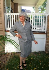 Trying Very Hard To Be A Lady (Laurette Victoria) Tags: pumps suit gray lady woman laurette