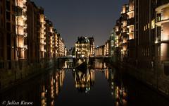 Hamburg, Wasserschloss (90flyhigh) Tags: hamburg germany elbe hafen harbour speicherstadt photowalk night
