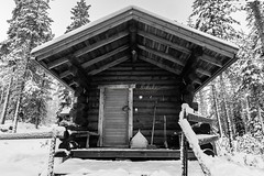Cabin in the Woods (amitaabhbakshi) Tags: rovaniemi snow finland cabin woods wood travel photography traveller