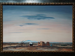 The Deserted Ranch (Peter Hurd, 1946) (Whidbey LVR) Tags: lyle rains lylerains olympus em5ii new mexico newmexico albuquerque museum art painting