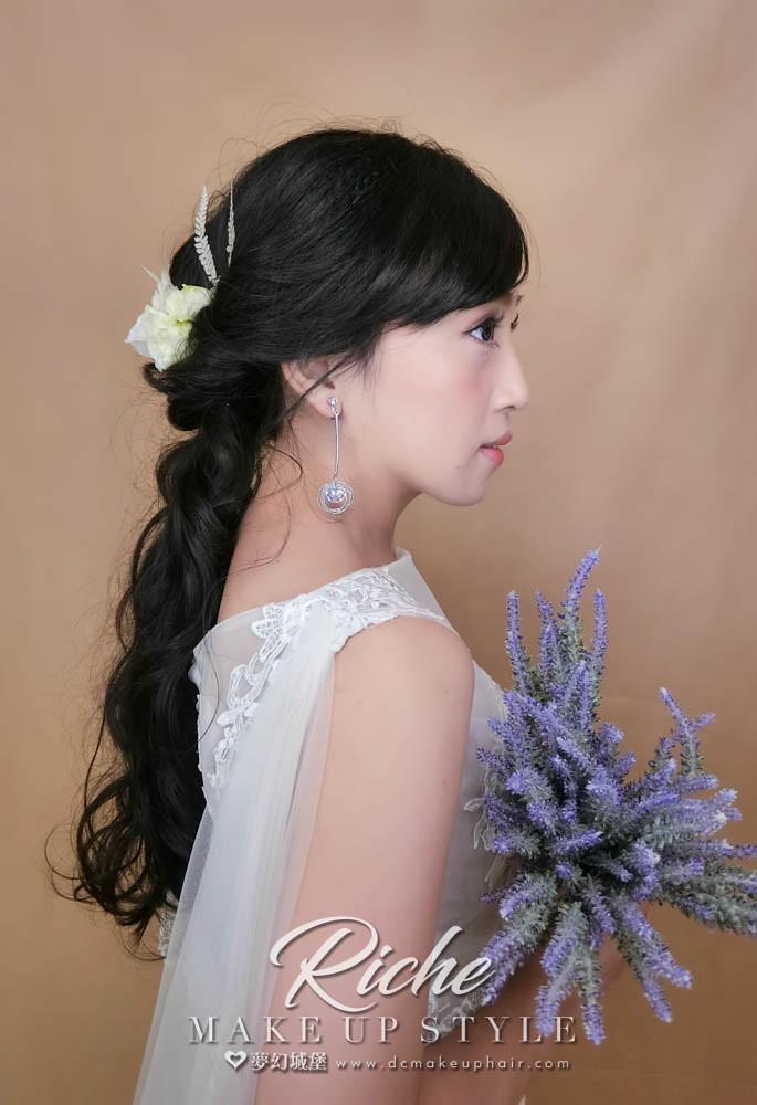 【新秘RICHE】新娘造型創作 / 鮮花造型