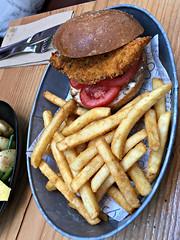 2018 Sydney: Lunch @Fish & Co (dominotic) Tags: 2018 tramsheds food lunch fishco sustainablefishcafe 1904rozelletramdepot innerwestsydney crumbedfishburgerwithaiolitomatoandchips architecture history dining shopping industrialmakeover iphone8 yᑌᗰᗰy tramshedsharoldpark sydney australia
