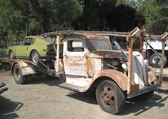 1936 Dodge Car Carrier (PAcarhauler) Tags: carcarrier semi truck trailer tractor volvo dodge