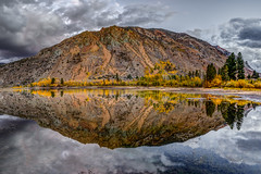Fall Pond Reflection (Jeff Sullivan (www.JeffSullivanPhotography.com)) Tags: pond reflection eastern sierra fall colors aspen trees landscape nature hdr travel photography workshop bishop california usa canon 5d mark iv photo copyright 2018 jeff sullivan october inyocounty