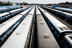 Trains (Mathijs Buijs) Tags: india old delhi railway station junction long trains perspective chandni chowk uttar pradesh northern canon eos 7d