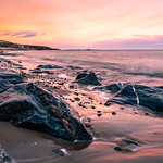 Sunset on the beach - Stonehaven, Scotland - Seascape photography thumbnail