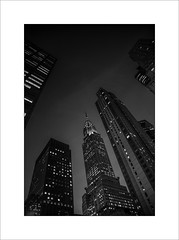 Chrysler building at night (tkimages2011) Tags: newyork thebigapple chrysler building architecture skyscraper tall night evening mono monochrome outside outdoor usa america