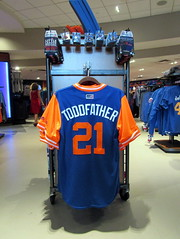 Mets Team Store at Citi Field, 08/26/18 (NYM v. WAS): Todd Frazier replica Player's Weekend jersey, $149.99 (IMG_3178a) (Gary Dunaier) Tags: baseball stadiums stadia ballparks mets newyorkmets flushing queens newyorkcity queenscounty queensboro queensborough citifield
