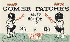 Gomer & Patches - Fremont, California (73sand88s by Cardboard America) Tags: qsl cbradio vintage california qslcard citizensband cb child